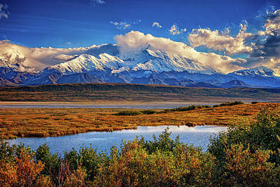 Denali, The High One Print by Rick Berk