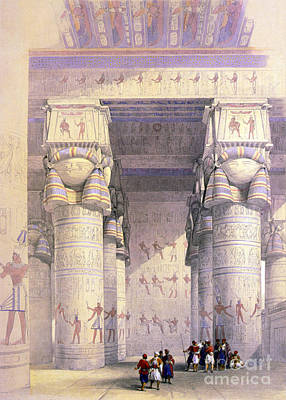 Hathor Photograph - Dendera Temple Complex, 1930s by Science Source