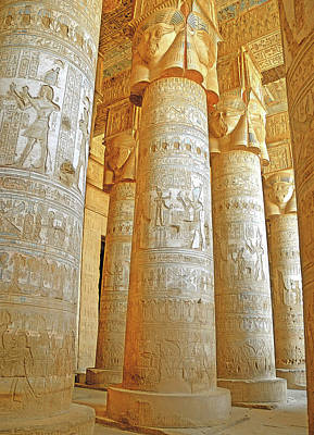 Photograph - Dendera Temple by Nigel Fletcher-Jones