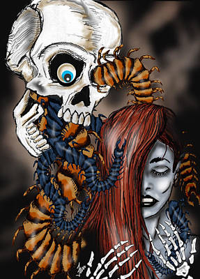 Creepy Mixed Media - Deneen's Nightmare by Steve Farr