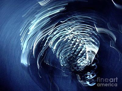Abstract Photograph - Denim And Light  Abstract 1 by Prar Kulasekara