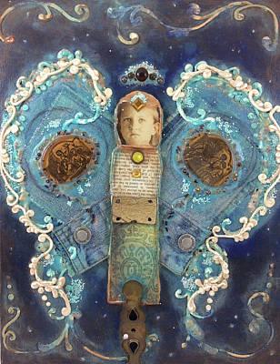 Denim Angel Patch Art Print by Cici Kan
