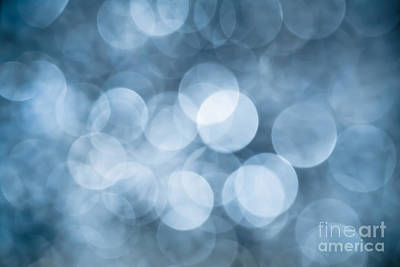 Photograph - Denim Blue Bokeh by Jan Bickerton