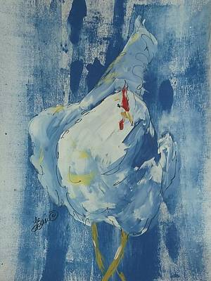 Painting - Denim Chicken by Terri Einer