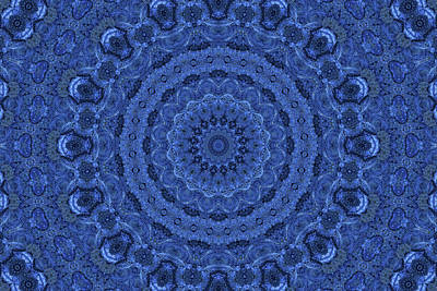 Mixed Media - Denim Mandala by Lynne Guimond Sabean