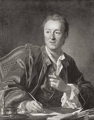 Denis Diderot, 1713 Art Print by Vintage Design Pics