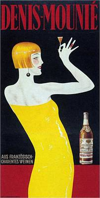 Mixed Media - Denis-mounie - Vintage Drinks Advertising Poster by Studio Grafiikka