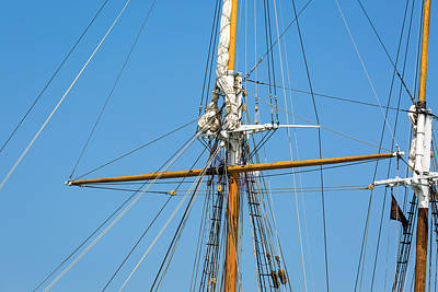 Photograph - Denis Sullivan Foremast  Main Mast by Jack R Perry