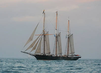 Photograph - Denis Sullivan Out On An Evening Sail by Janice Adomeit
