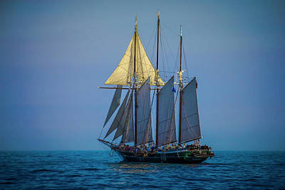 Photograph - Denis Sullivan - Three Masted Schooner by Jack R Perry