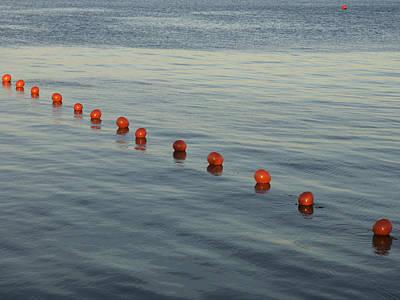 Denmark Red Safety Balls Floating Art Print by Keenpress