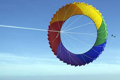 Romo Photograph - Denmark, Romo, Colorful Kite Flying by Keenpress