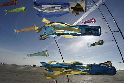 Romo Photograph - Denmark, Romo, Kites Flying At Beach by Keenpress