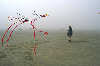 Romo Photograph - Denmark, Romo, Man Flying Kite On Beach by Keenpress