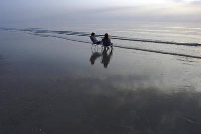 Romo Photograph - Denmark, Romo, Two Young Woman Relaxing by Keenpress