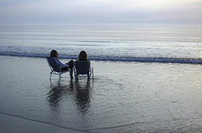 Romo Photograph - Denmark, Romo, Two Young Women Relaxing by Keenpress