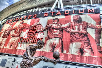 Dennis Bergkamp Photograph - Dennis Bergkamp Statue Emirates Stadium by David Pyatt