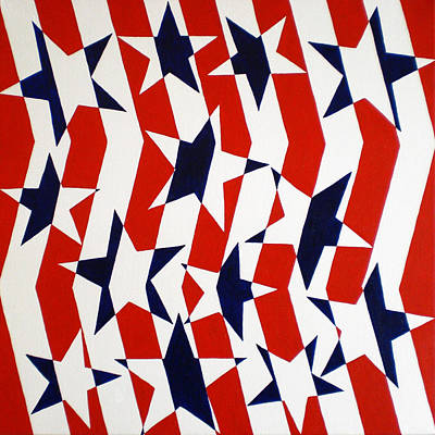 Star Spangled Banner Painting - Dennis Conner II by Oliver Johnston