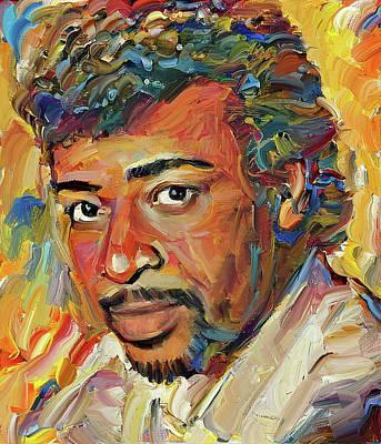 Digital Art - Dennis Edwards Tribute Portrait 1 by Yury Malkov