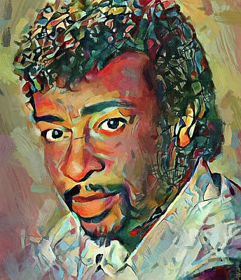 Digital Art - Dennis Edwards Tribute Portrait 3 by Yury Malkov