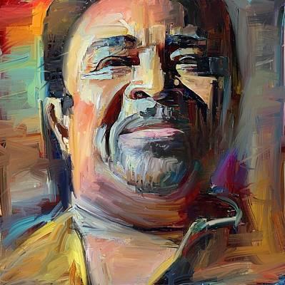 Digital Art - Dennis Edwards Tribute Portrait 4 by Yury Malkov