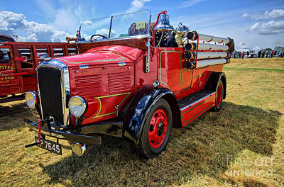 Dennis Fire Engine Art Print by Nichola Denny