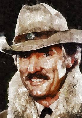 Elvis Presley Painting - Dennis Weaver, Actor by Mary Bassett