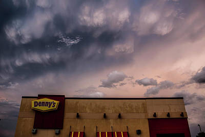 Extreme Restaurant Photograph - Denny's At Sunset by Francis Lavigne-Theriault