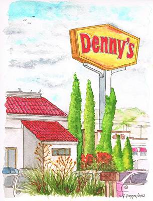 Denny's Coffee Shop In Barstow, California Original by Carlos G Groppa