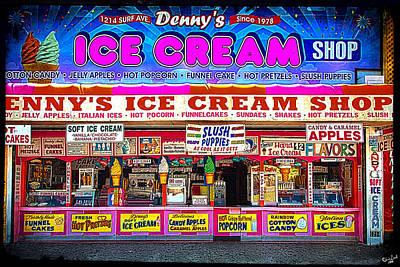 Dennys Ice Cream Shop Art Print by Chris Lord