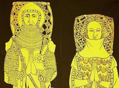 Brass Rubbing Tapestry - Textile - deNorthwoods by William Streett