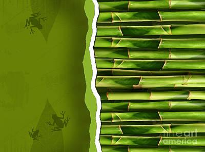 Dense Bamboo Stalk With Copyspace Art Print by Sandra Cunningham