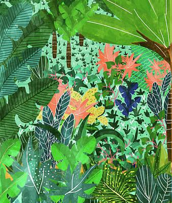 Digital Art - Dense Forest by Uma Gokhale