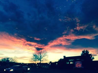 Painting - Dense Sunset by Angela Annas