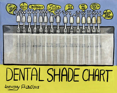 Painting - Dental Shade Chart by Anthony Falbo