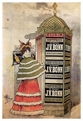 Mixed Media - Dentifrices Du Doctur J.v.bonn - Toothpaste - Vintage Advertising Poster by Studio Grafiikka