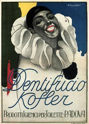 Mixed Media - Dentifricio Kofler - Vintage Toothpaste Advertising Poster by Studio Grafiikka
