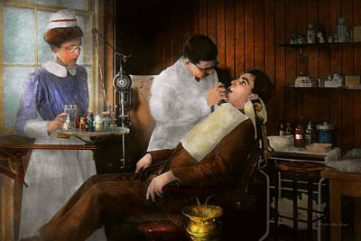 Photograph - Dentist - An Incisive Decision - 1917 by Mike Savad