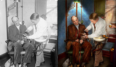 Dentist - Monkey Business 1924 - Side By Side Print by Mike Savad