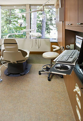 Empty Chairs Photograph - Dentist Office by Andersen Ross