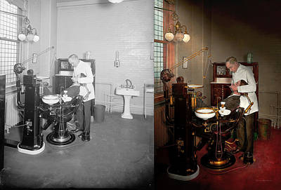 Practice Gallery Photograph - Dentist - Roy O Woodruff Dentist 1924 - Side By Side by Mike Savad