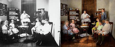 Photograph - Dentist - The Family Practice 1921 - Side By Side by Mike Savad