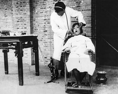 Dentistry In China Art Print by Underwood Archives