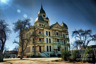 Photograph - Denton Courthouse by Diana Mary Sharpton