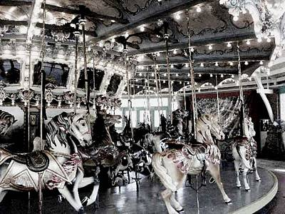 Photograph - Dentzel Menagerie Carousel - Glen Echo Park Maryland by Fareeha Khawaja