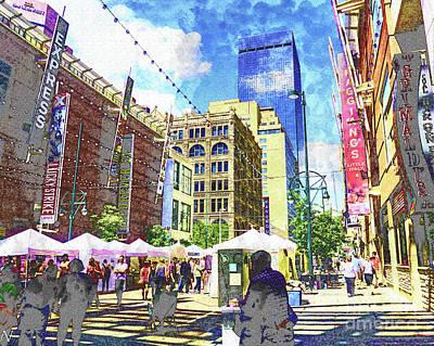 Digital Art - Denver Art Walk by Deborah Nakano