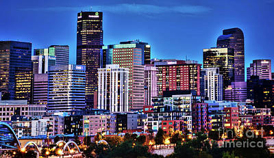 Photograph - Denver At Dusk by Steven Parker