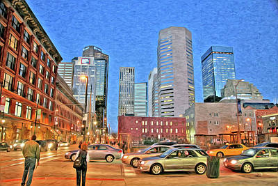 Photograph - Denver At Night by James Steele