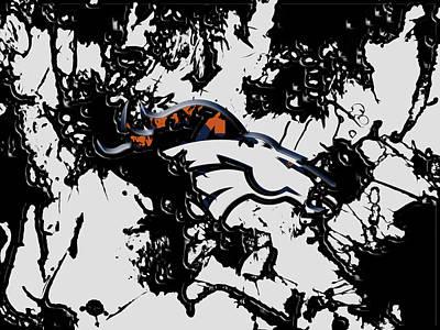 Denver Broncos 1b Art Print by Brian Reaves