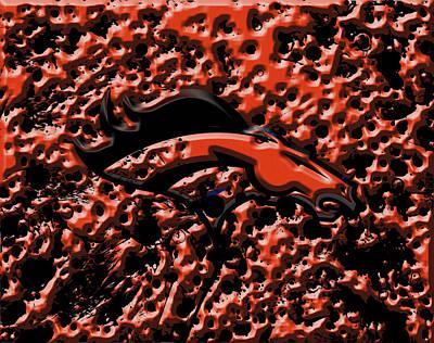 Denver Broncos 4b Art Print by Brian Reaves